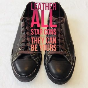 Converse All Star Brown Leather Sneakers 9 Men's